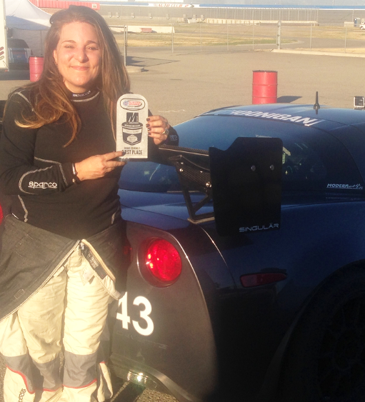 STEPHANIE WINS HER FIRST SCCA RACE!